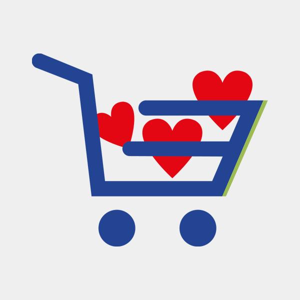 Barattolo vetro cuore rosso